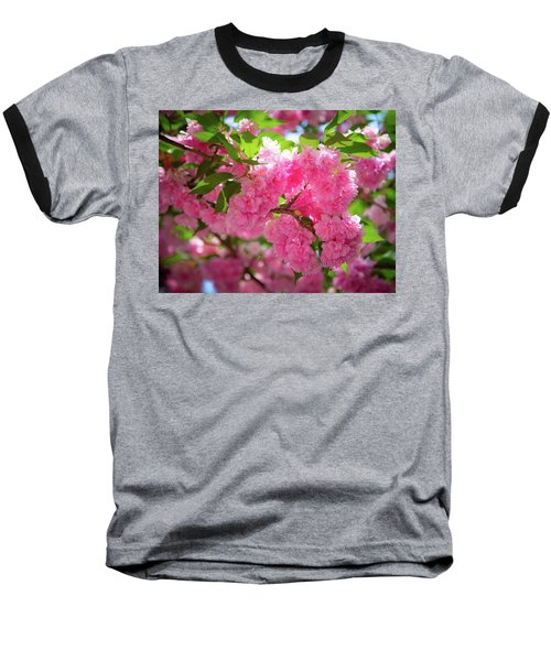 Bright Pink Blossoms Baseball T-Shirt