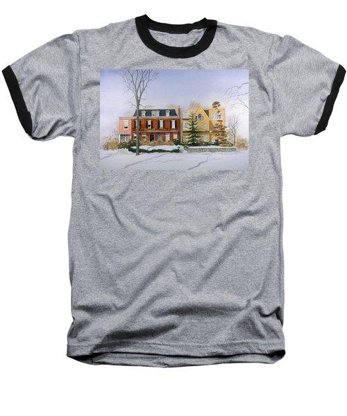 Broom Street Snow Baseball T-Shirt