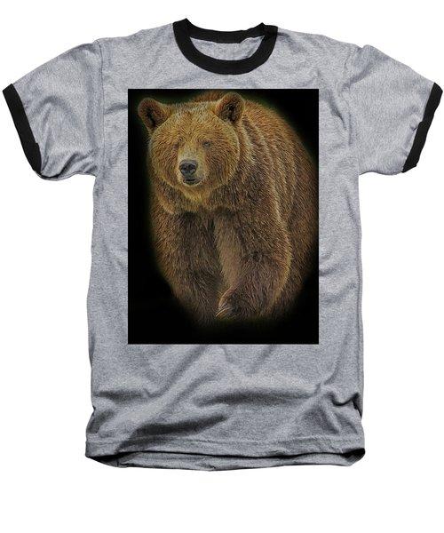 Brown Bear In Darkness Baseball T-Shirt