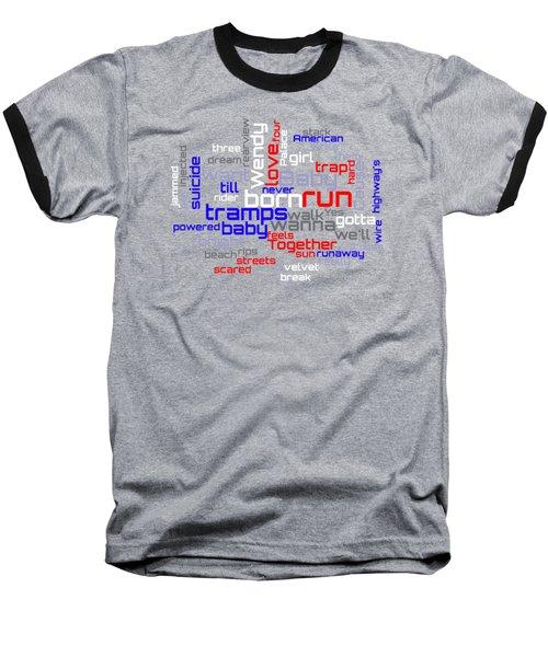 Bruce Springsteen - Born To Run Lyrical Cloud Baseball T-Shirt