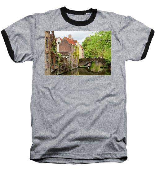 Bruges Footbridge Over Canal Baseball T-Shirt