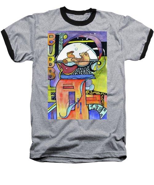 Bubble Bath Bear Baseball T-Shirt
