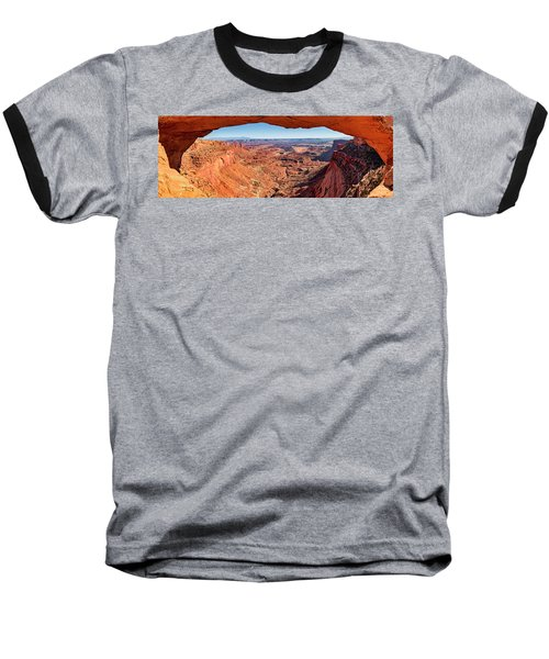 Baseball T-Shirt featuring the photograph Buck Canyon Through Mesa Arch by Andy Crawford