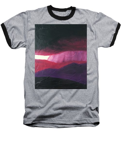 Burgundy Storm On The Horizon Baseball T-Shirt