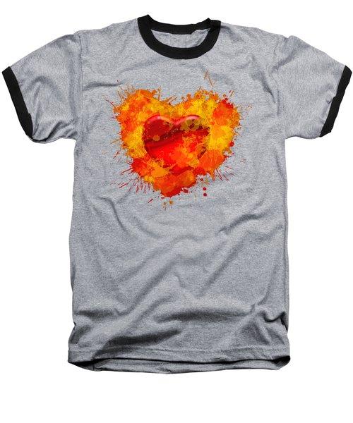 Burning Heart Baseball T-Shirt