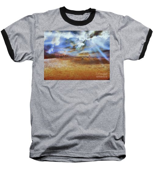 Baseball T-Shirt featuring the photograph Burning Sand  by Leigh Kemp