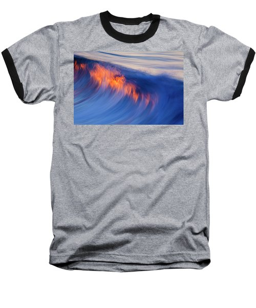 Burning Wave Baseball T-Shirt