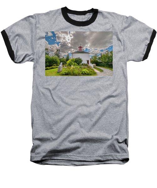 Burntcoast Head Lighthouse  Baseball T-Shirt
