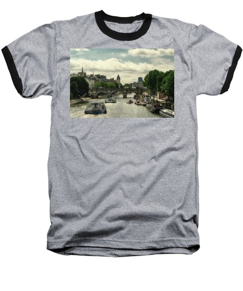 Busy Morning On The Seine Baseball T-Shirt