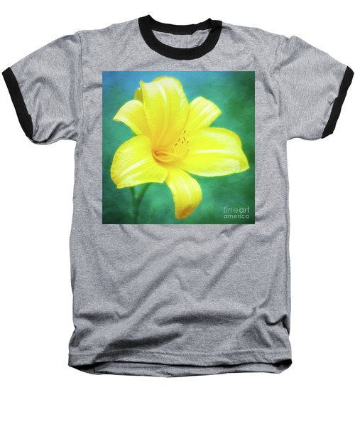 Buttered Popcorn Daylily In Her Glory Baseball T-Shirt