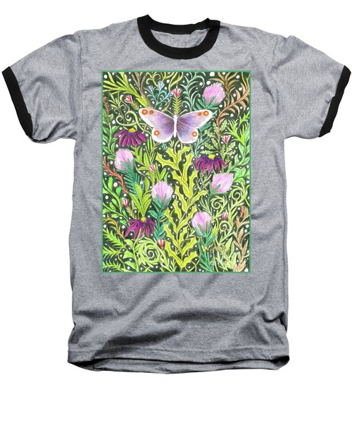 Butterfly In The Millefleurs Baseball T-Shirt