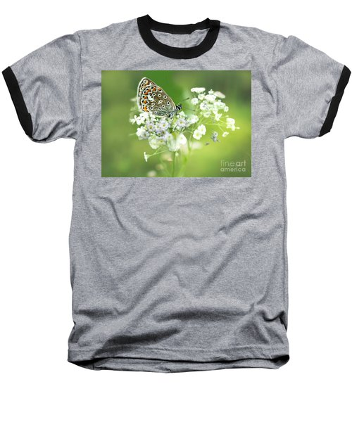 Butterfly On Babybreath Baseball T-Shirt