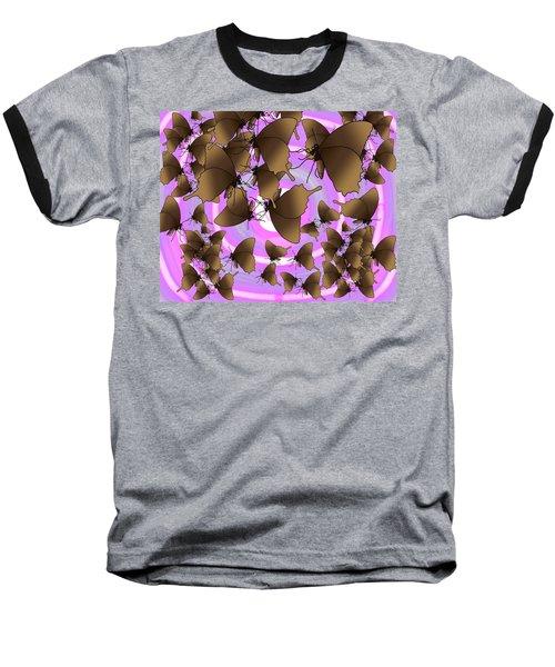 Butterfly Patterns 10 Baseball T-Shirt