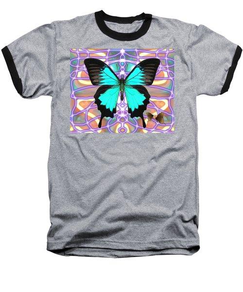 Butterfly Patterns 20 Baseball T-Shirt