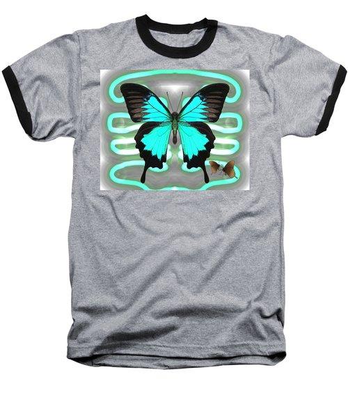 Butterfly Patterns 24 Baseball T-Shirt