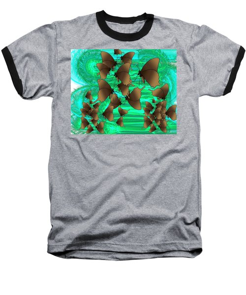 Butterfly Patterns 3 Baseball T-Shirt