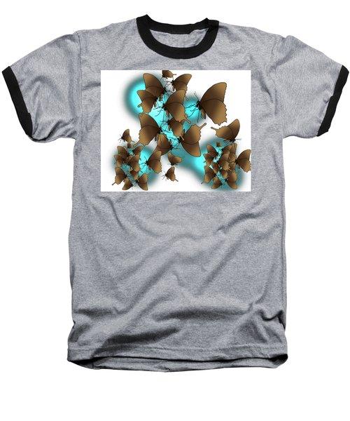 Butterfly Patterns 9 Baseball T-Shirt