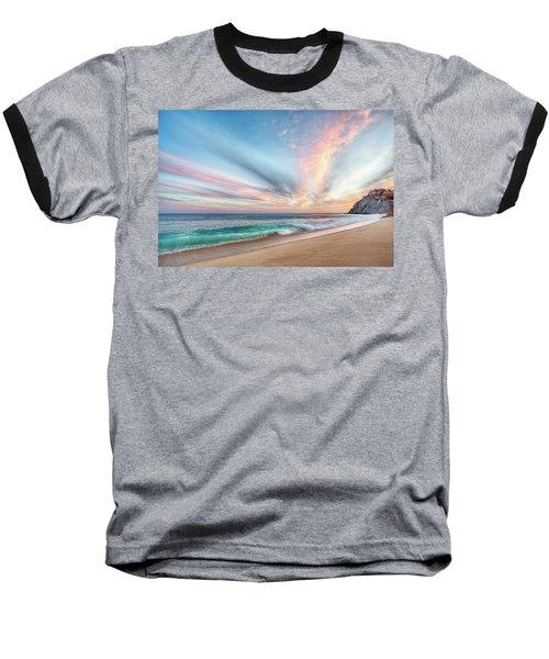 Cabo San Lucas Beach Wave Sunset Baseball T-Shirt