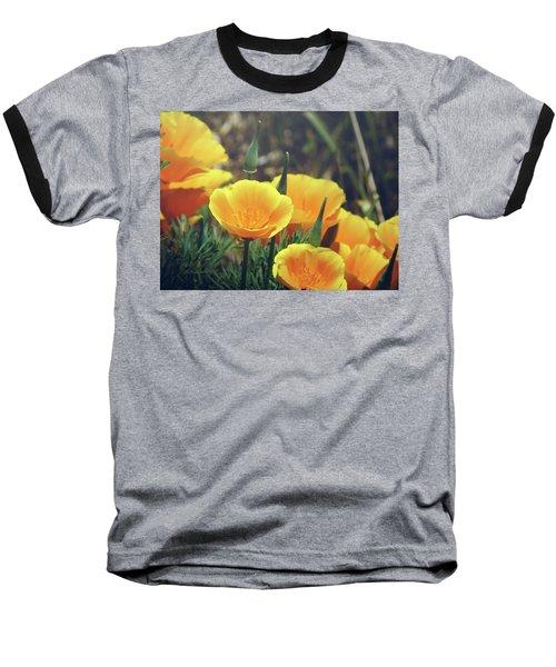 Baseball T-Shirt featuring the photograph Californian Poppies In The Patagonia by Eduardo Jose Accorinti