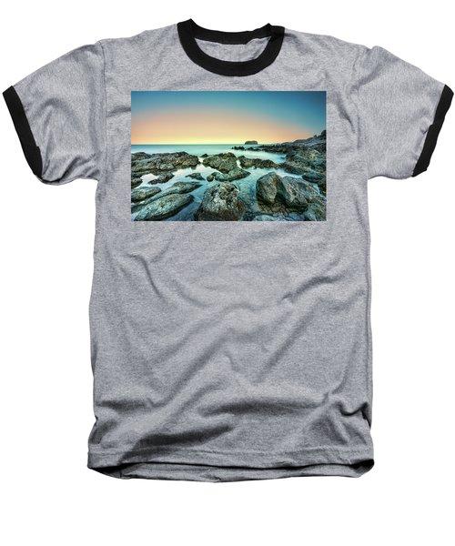 Calm Rocky Coast In Greece Baseball T-Shirt