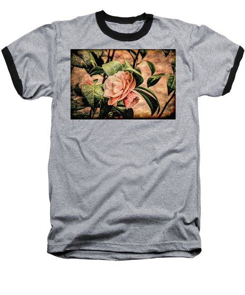 Camellia Grunge Baseball T-Shirt