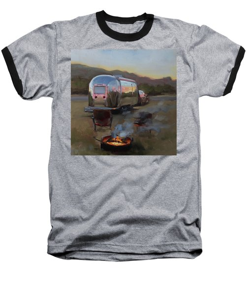 Campfire At Palo Duro Baseball T-Shirt