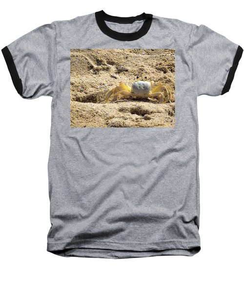 Baseball T-Shirt featuring the photograph Carl The Crab by Lora J Wilson