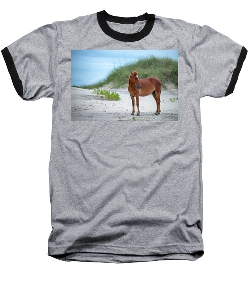Carova Wild Horses - Colonial Spanish Mustangs Baseball T-Shirt