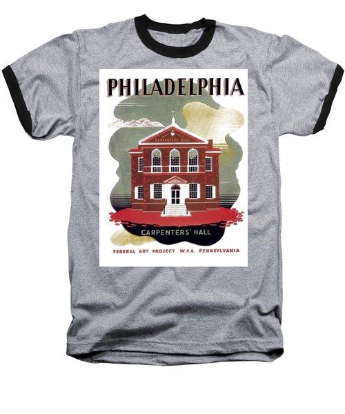 Carpenter Hall - Philadelphia - Remastered Baseball T-Shirt