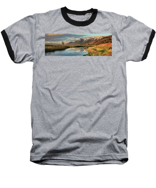 Carson Valley Sunrise Panorama Baseball T-Shirt