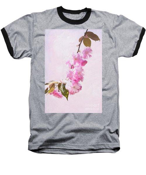 Cascading Kwanzan Cherry Blossoms Baseball T-Shirt