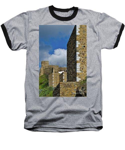 Castle Wall In Alentejo Portugal Baseball T-Shirt