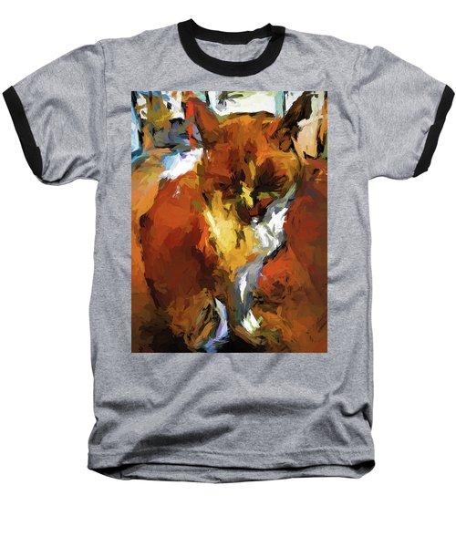 Cat In The Kitchen Baseball T-Shirt