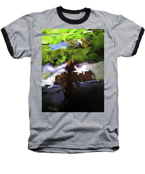 Cat On The Porch Baseball T-Shirt