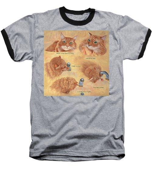 Cat Splash Baseball T-Shirt