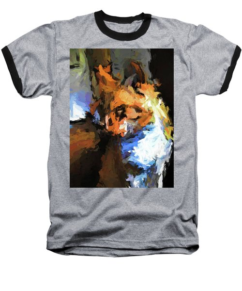 Cat With The Turned Head Baseball T-Shirt