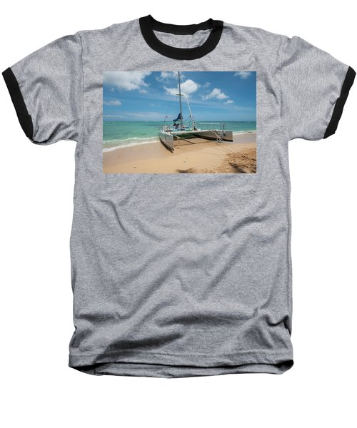 Catamaran On Waikiki Baseball T-Shirt