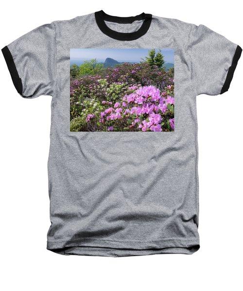Catawba Rhododendron Table Rock  Baseball T-Shirt