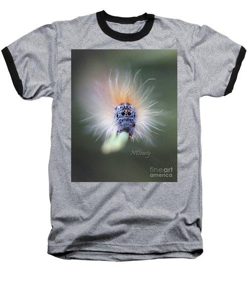 Caterpillar Face Baseball T-Shirt