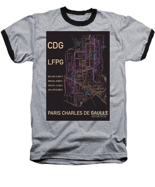 Cdg Paris Airport Baseball T-Shirt