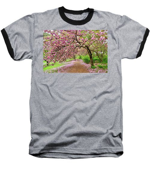Central Park Cherry Blossoms Baseball T-Shirt