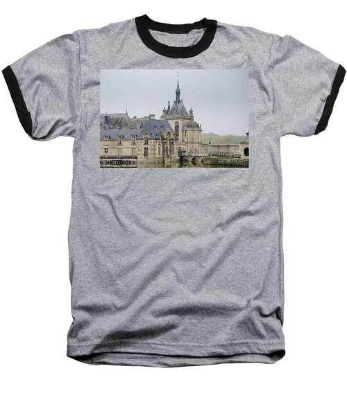 Baseball T-Shirt featuring the photograph Chateau De Chantilly, Paris France by Perry Rodriguez