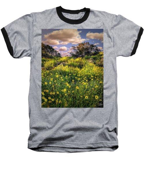 Chatsworth Wildflower Bloom Baseball T-Shirt