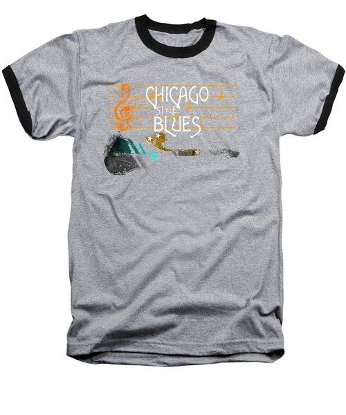 Chicago Blues Music Baseball T-Shirt