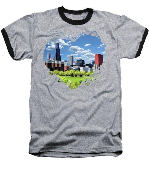 Chicago Historic Michigan Avenue Baseball T-Shirt