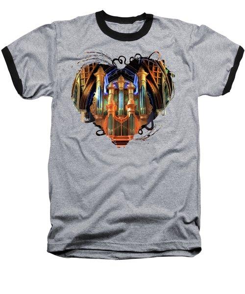 Chicago Holy Name Cathedral Organ Baseball T-Shirt