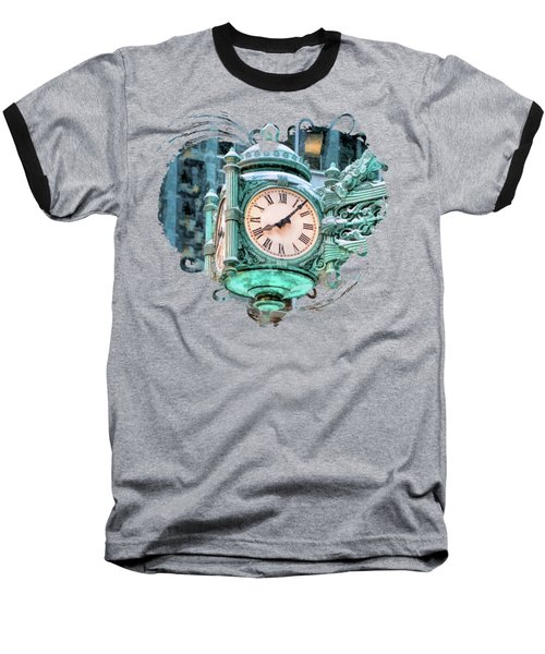 Chicago Marshall Field State Street Clock Baseball T-Shirt