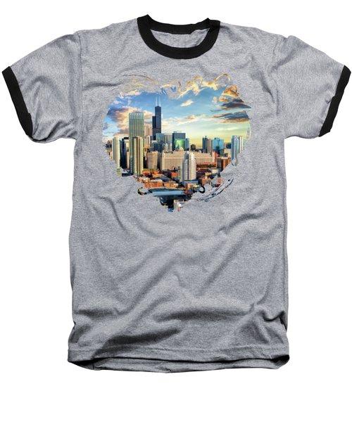 Chicago River North Baseball T-Shirt