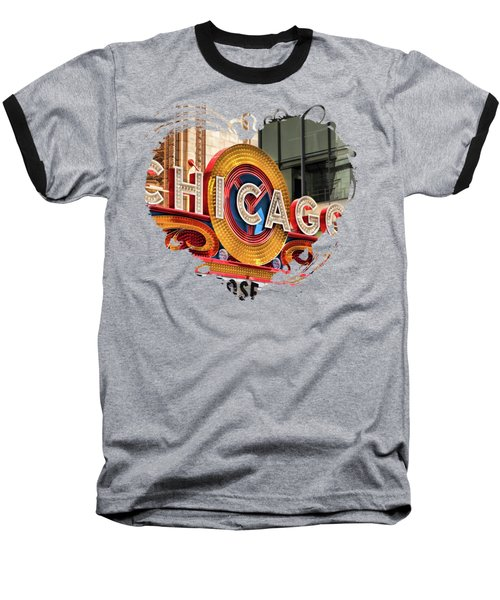 Chicago Theatre Marquee Baseball T-Shirt