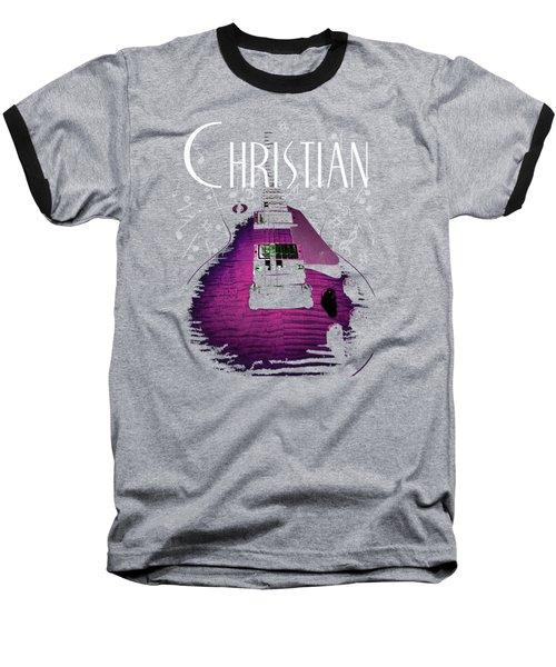Baseball T-Shirt featuring the digital art Christian Music Guita by Guitar Wacky